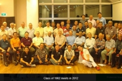 Reunion Class of '62 meet in 2012