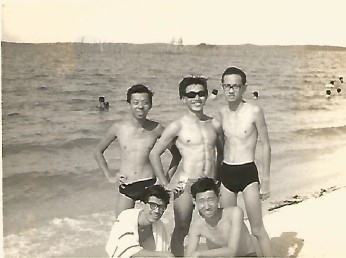 1963 Swimming at our back door