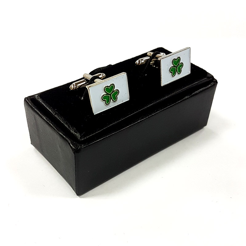 Shamrock Cuff Links – Square