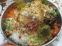 Yu Sheng with Ingredients