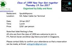 Reunion - Class of 1959 Jan 2017